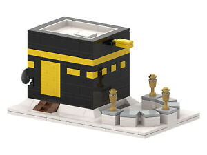 Kaaba Bricks Islamic Toy Building Blocks Set Included Guide of 64 Steps