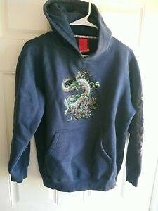 Vintage 90s Jnco Jeans Dragon Hoodie Blue Size Youth Large
