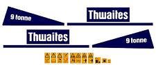 THWAITES 9 TONNE DUMPER DECALS STICKERS AND SAFETY WARNING STICKERS