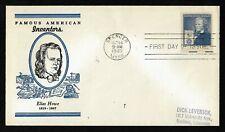 #892 5c Famous Americans - Inventors - Elias Howe -  Linprint FDC
