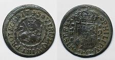 ESPAÑA.  FELIPE V.   2 MARAVEDÍS 1745 SEGOVIA.      MBC -