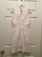 NWT Vineyard Vines Women's Kentucky Derby Horse Shoe Sleeveless White Dress 00