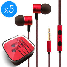 5-Pack In-Ear Earphones Headphone 3.5mm for Samsung iPod MP3 MP4 PC iPhone Music