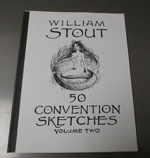 1993 William Stout 50 Convention Sketches v. 2 VF+ Signed #425/950