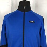 SMS Santini Softshell Cycling Wind Jacket Blue XL