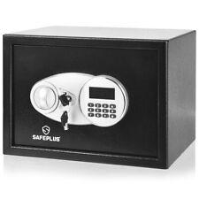Security Safe Box 2-Layer Cabinet w/Electronic Digital Keypad Deposit Box Black