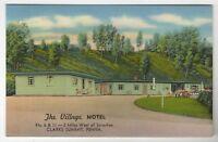 PA Clarks Summit Pennsylvania Vintage Linen Postcard The Village Motel MCM