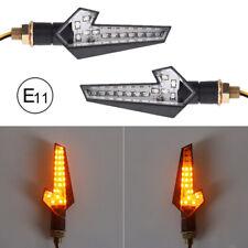 Universal 2x Motorcycle Turn Signals Dynamic Flowing LED Flash Indicator Light