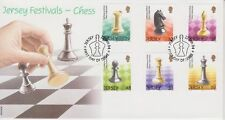 Unaddressed Jersey FDC First Day Cover 2004 Festivals Chess Set 10% off 5