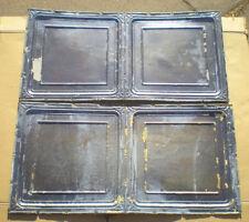 4 Antique Iridescent 24x24 Ceiling Tin Tiles Carnival Canvas Elegant Chic Frame