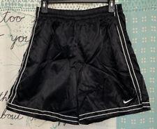 Vintage 90's Nike Nylon Soccer Shorts Black Satin Silky Shiny Men's Medium M