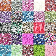 Perline sfuse di strass multicolore rotondi