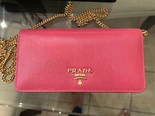 Prada Safiano Leather Wallet On Chain