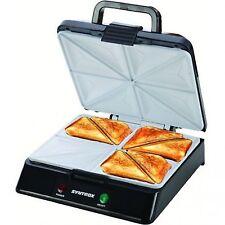 Sandwichera XXL con placas de cerámica termostato y decoración de acero inoxidable 2000w