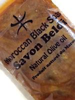 RAW ORGANIC MOROCCAN BLACK BELDI SOAP WITH PURE ARGAN OIL  -SKIN EXFOLIATION