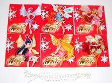 6 Stk. Winx Club Enchantix Geschenketiketten Geschenkkarten Geburtstag Bloom NEU