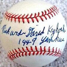 "RICHARD DAVID ""DICK"" KRYHOSKI (D.2007) 1949 YANKEES SIGNED OAL BASEBALL JSA"