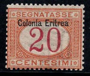 Eritrea 1903 Sass. 3 Nuovo ** 100% Segnatasse 20 cent...---