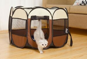 Large Foldable Pet Cage Soft Dog Cat Travel Puppy Carrier Indoor Tent House New