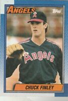 FREE SHIPPING-MINT-1990 Topps #147 Chuck Finley Angels PLUS BONUS CARDS