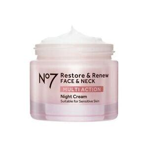 No7 Restore & Renew Face & Neck Multi Action Night Cream 50ml  ✅