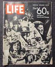 1969 Dec 26 LIFE Magazine '60s Decade of Tumult & Change VG- 3.5 Beatles Snoopy