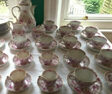 Meissen Porcelain Antique 53 PEICE TEA SET, Indian Rose Coffee Pot - QUICK SALE