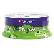 Verbatim CD-RW Discs 700MB/80min 4X/12X Spindle 25/Pk 95155