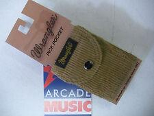 Wrangler  pick pocket for plectrums attaches to guitar strap colour camel