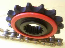 Yamaha MT09 MT 09 850 CNC gefrästes Ritzel gummiert 16 Zähne