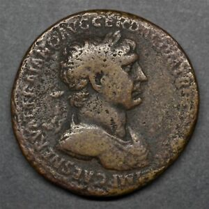 EXTREMELY RARE SESTERTIUS OF TRAJAN: MONUMENTAL GATEWAY. ROME, AD 104. RIC 57.2