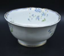 1830s Grainger Lee & Co Worcester Footed Waste Bowl Blue Flowers Gold (141x)