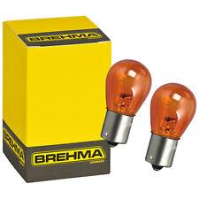 2er Set BREHMA Blinkerlampe PY21W 12V 21W orange gelbe Birne Kugel Lampe BAU15s