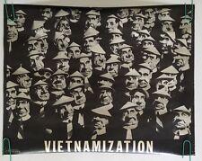 Vietnamization Vintage Poster Richard Nixon Anti-war Peace Pin-up 1970's Vietnam