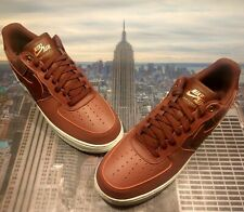 Nike Air Force 1 Low '07 LV8 Port/Dark Team Red Mens Size 11.5 823511 602 New