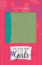 Study Bible for Girls-KJV-Butterfly Design (Leather / Fine Binding)