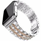 Butterfly Cinturino Acciaio Inox Watch Band Adapter Per Apple Watch 38mm 42mm