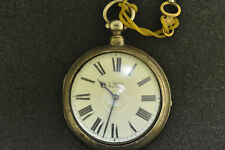 UNUSUAL 18 SIZE AMERICAN WALTHAM POCKET WATCH IN AN ENGLISH PAIR CASE FROM 1879