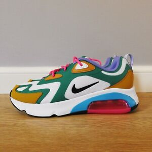 Nike Air Max 200 Mystic Green / White / Gold Suede size 8.5 UK 43 EU AT6175-300