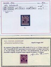 1923 Colonie Italiane/Somalia n.36a il 3besa su 2c su 1besa doppia soprastampa++