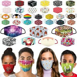 Reusable Face Mask Covering Double Cotton Protection Washable Child Kids Adult