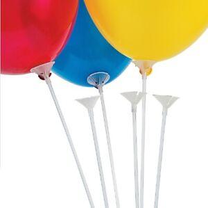 50x Latex Balloon Rods Sticks Cup Holder with Cap Party Wedding Keep Ballon USA
