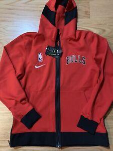 Nike NBA Chicago Bulls Showtime Nike Therma Flex Hoodie Green Size S CN4016-657