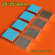 10pcs 20x20x6mm Cooling Shim CPU GPU VGA RAM Heat Sinks Spreader Memory Cooler