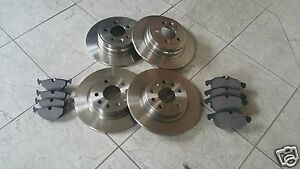 ROVER 75 MG ZT  99-TWO FRONT AND TWO REAR BRAKE DISCS & FRONT& REAR PADS LH & RH
