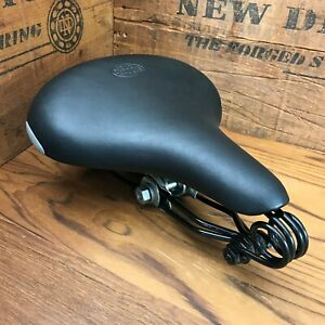 Restored 1930s Pre-War Mesinger Mens B-70 Vintage Bicycle Saddle