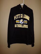"NFL Team Apparel Pittsburgh Steelers Jet Black pullover hood men's ""L"""