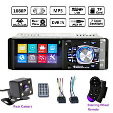 4.1'' HD 1 DIN Universal Car Stereo Radio Bluetooth MP3 MP5 Player AUX USB