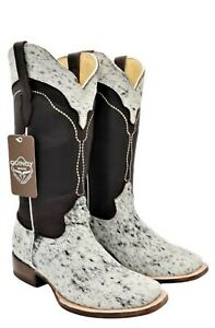 Women Genuine Cowhide leather with natural hairs Cowboy Western Boots Handmade