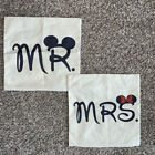 """Mickey Minnie Mouse Mr. & Mrs.Throw Accent Pillow Cases Covers 17""""x17"""""""